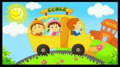 The wheels on the bus Early French, French Kids, Teaching French, Teaching Spanish, Preschool Graduation, Wheels On The Bus, World Languages, French Immersion, French School