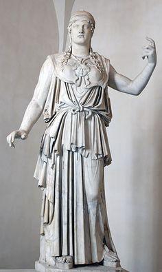 Athena Parthenos, Palazzo Altemps, firmata da Antioco, copia da originale di Fidia