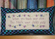 When Teach Your Children  Tuck Pillow by LaughRabbitJr on Etsy, $21.00