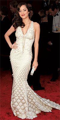 Marion Cotillard scales it up in a fishy-looking Jean Paul Gaultier in 2008.