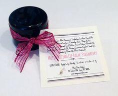 Strawberry Lip Balm Lip Pot Pink Lip Balm by MissyRoseStudios