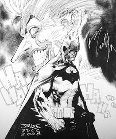 Batman and The Joker by Jim Lee *