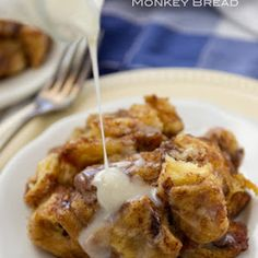 Slow Cooker Cinnamon Roll Monkey Bread With Cinnamon Rolls, Granulated Sugar, Cinnamon, Brown Sugar, Unsalted Butter