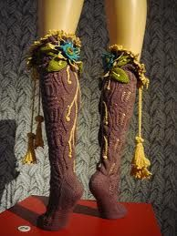 make these to peek out over boots Faerie Costume, Woodland Elf, Over Boots, Cosplay, Fairy Clothes, Boot Socks, Fun Socks, Knee Socks, Fairy Dress