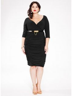 Ambrosia Plus Size Dress in Black