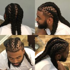 Palm roll and style Men Dread Styles, Mens Dreadlock Styles, Dreads Styles, Beard Styles, Hair Styles, Boy Braids Hairstyles, Dreadlock Hairstyles For Men, Black Men Hairstyles, Undercut Hairstyles