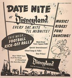 Date Nite at Disneyland, 1957 by Miehana, via Flickr