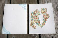 carte félicitation mariage chic: découpage à motifs floraux