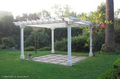 back yard arbor