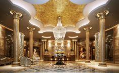 Brown Premium Hotel Lobby Interior Design