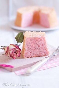 pink rose and lychee chiffon cake