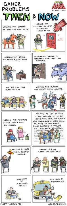 Gamer Problems Then And Now [Comic]