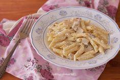 Macarrones al queso con pollo y champiñones | Comer con poco