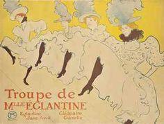 Henri de Toulouse-Lautrec - LA TROUPE DE MADEMOISELLE ÉGLANTINE
