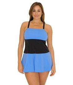 Take a look at this Blue & Black Fit 4 Ur Thighs Plus-Size Swimdress by Fit 4 U on today! Plus Size Swimsuits, Fit 4, Swim Dress, Princess Seam, Tankini, Style Me, Thighs, Cover Up, Glamour
