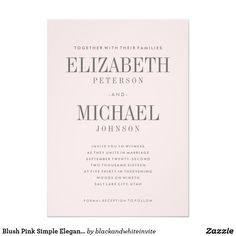 simple elegant wedding invitations