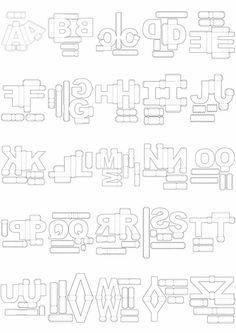 Letras Corte Manual Formatos Png, Sgv, Pdf E Sillhouette en São Paulo… 3d Paper Crafts, Diy Arts And Crafts, Paper Toys, Diy Paper, Paper Art, Alphabet 3d, Alphabet Templates, Diy Gift Box, Diy Box
