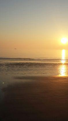 Heading into the sunrise.  Jekyll Island Ga.