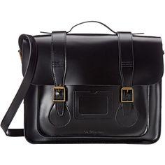 Dr. Martens 15 Leather Satchel (Black) Satchel Handbags ($200) ❤ liked on…