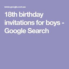 18th birthday invitations for boys google search male birthday 18th birthday invitations for boys google search male birthday pinterest male birthday filmwisefo