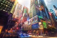 Modern Asian City // Concept Art // Made by: Unknown