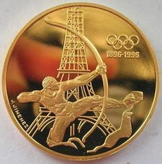 France 1994 Archer Eiffel Tower 500 Francs Gold Proof Coin.