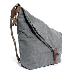 Women Men Canvas Cowhide Gray Button Shoulder Bags Casual Crossbody Bags,you can use it as crossbody bags and shoulder bags ,both men and women can use it.