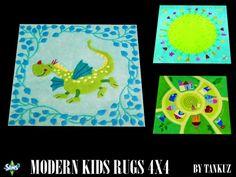 Modern Kids Rugs 4x4 by Tankuz - Sims 3 Downloads CC Caboodle