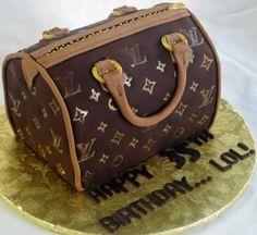 Louis Vuitton Purse 35th Birthday Cake... LOL Louis Vuitton Cake, Louis Vuitton Hobo Bag, Louis Vuitton Handbags Sale, Cheap Handbags, Handbags On Sale, Handbags Michael Kors, Louis Vuitton Monogram, 35th Birthday, Birthday Cake
