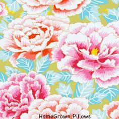 FAT QUARTER Kaffe Fassett Fabric Kimono Pink Floral Fabric