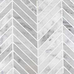 "Chevron Mosaic - Bianco Carrara - Honed- 5/8""x4-3/4"""