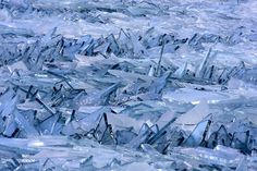 Ice Shards on the Great Lakes