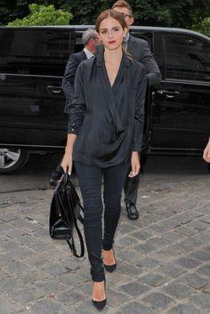Emma Watson attends Giambattista Valli Fashion Show