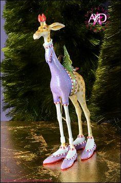 2014 Patience Brewster Krinkles, George Giraffe Ornament