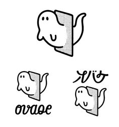 ghost logo at DuckDuckGo 2 Logo, Logo Sign, Symbol Logo, Typography Logo, Logo Branding, Typographic Design, Corporate Branding, Kanji Japanese, Japanese Logo