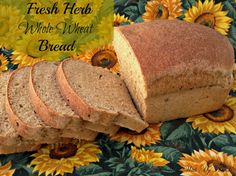 Fresh Herb Whole Wheat Bread ingredients in the bread pan, from @kingfamily89