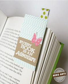 Corner Bookmark with Ribbon Accent