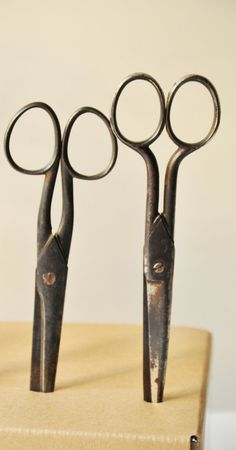 A great collection of old scissors in different styles and sizes. Still very sharp and functional, with lovely aged patina, these scissors are a