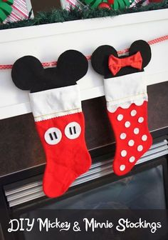 Mickey & Minnie stockings! How adorable...