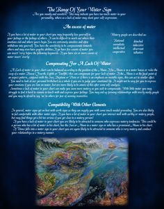 The Range of Your Water Sign Wicca Witchcraft, Wiccan, Magick, Pagan, Water Witch, Sea Witch, Elemental Magic, Astrology And Horoscopes, Elements Of Nature