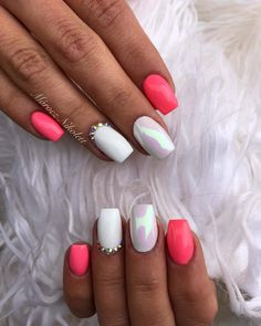 55 cool nail acrylic designs ideas to wear 1 Related Nagellack Design, Nagellack Trends, Best Acrylic Nails, Acrylic Nail Designs, Stylish Nails, Trendy Nails, Love Nails, Pink Nails, Deer Nails
