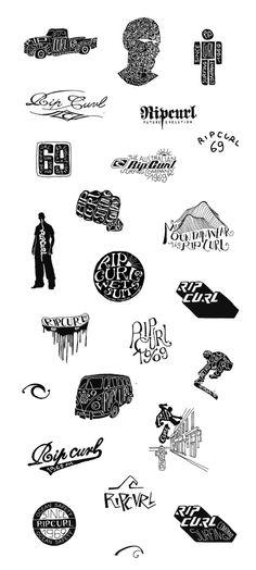 RIPCURL (textile design) - 2000 / 2005 by BMD Design , via Behance