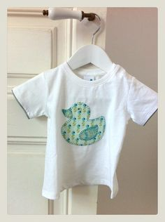 Camiseta patchwork pato ( tela berrie teal )