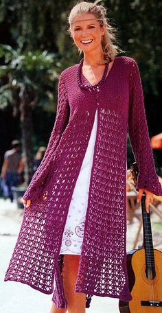Saco en crochet! ♪ ♪ ... #inspiration #crochet #knit #diy GB http://www.pinterest.com/gigibrazil/boards/