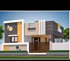 compound design - Her Crochet House Outer Design, House Front Wall Design, Single Floor House Design, House Outside Design, House Ceiling Design, Village House Design, Bungalow House Design, Small House Design, Modern House Design