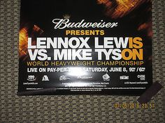 3 -  Lennox Lewis v Mike Tyson Boxing FIght Posters Budweiser COLLECTIBLE