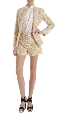 3.1 Phillip Lim Leopard Print Blazer and shorts