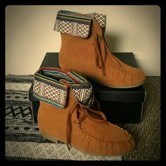 New!! Wild Diva booties / moccasins These are size 7, all man-made materials. Comes with the orginal box. Wild Diva Shoes Ankle Boots & Booties
