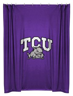 TCU Horned Frogs  Sports Coverage Team Color Shower Curtain  #SportsCoverage