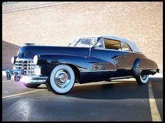 """1947 Cadillac Series 62 Convertible. Im sure this beautiful car was seen in many Film Noirs...not to mention """"The Godfather""""."""